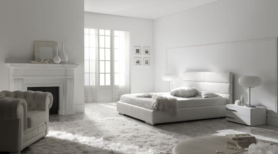 Habitaciones con encanto luciasecasa for Dormitorios modernos en blanco y plata