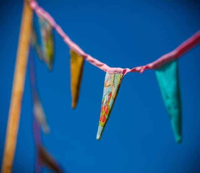 Banderines de colores
