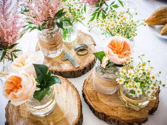 Flores naranjas para bodas