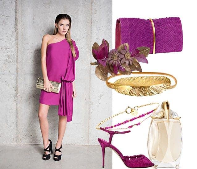 Looks para bodas color buganvilla - Colores que pegan con el azul ...