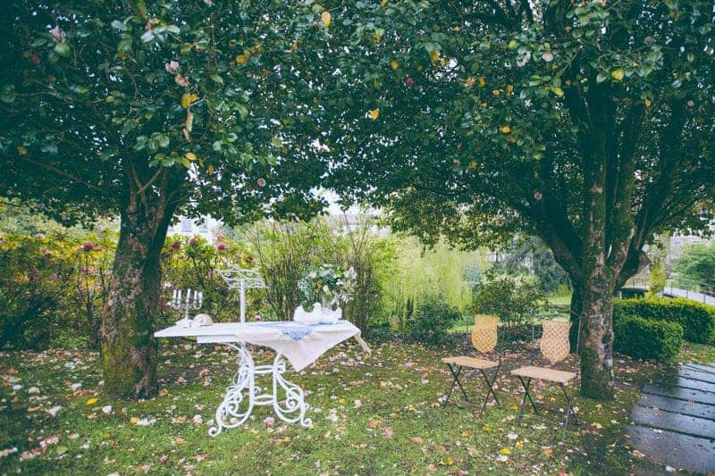 mesa blanca vintage boda