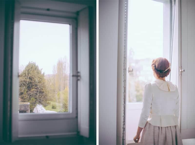 recogido novia ventana
