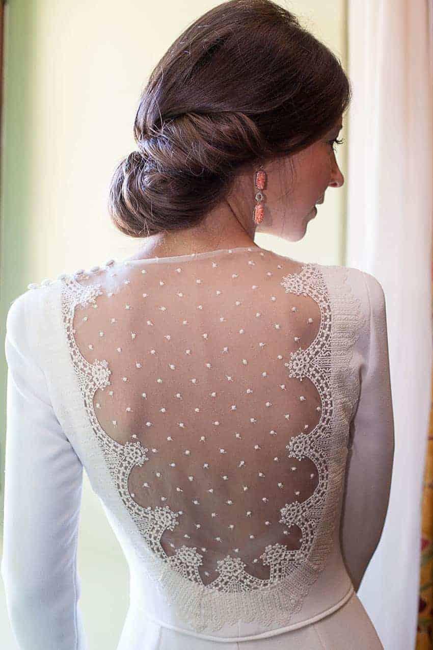vestidos de novia con escote tul ilusion