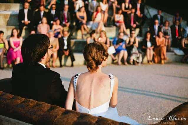 novios boda en montjuic