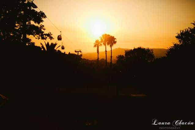 boda teleferico montjuic puesta de sol