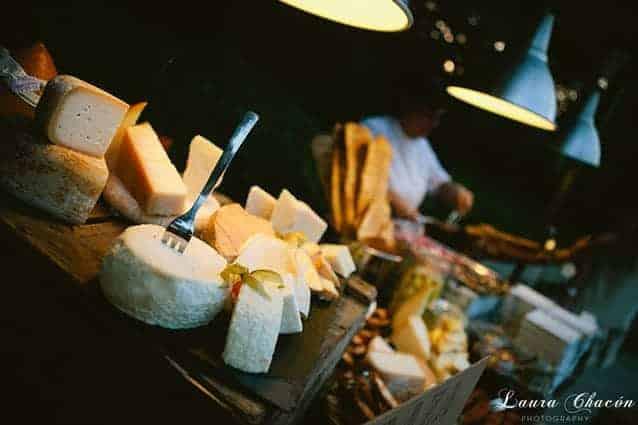 mesa de quesos boda montjuic
