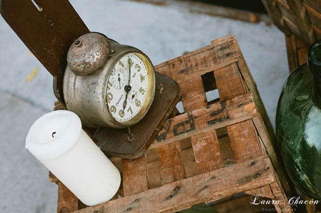 reloj vintage boda con caja de pa