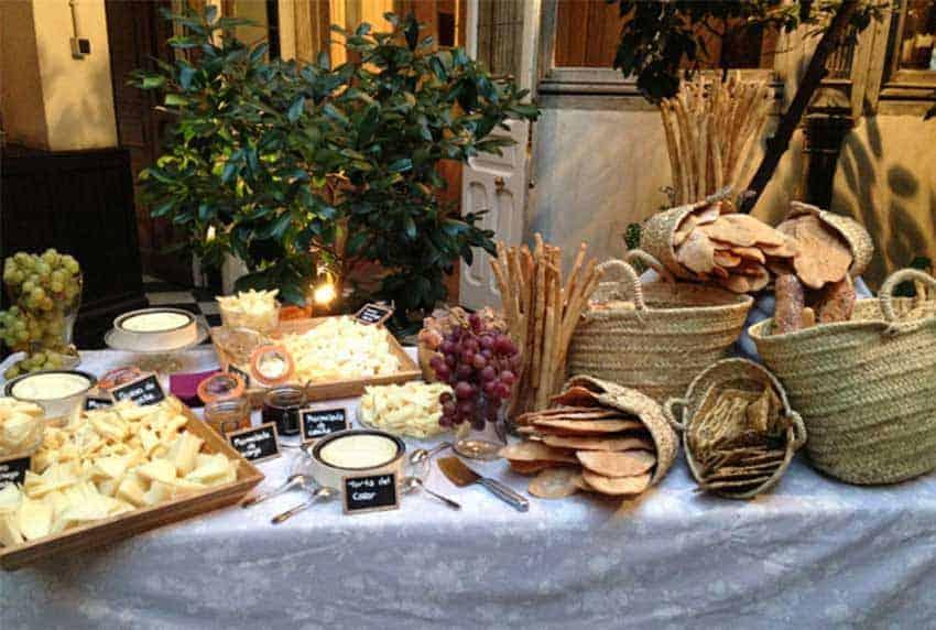 Catering bodas intimas e informales - Mesa de quesos para bodas ...