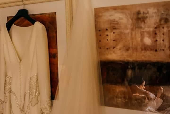 vestido novia el marco rojo