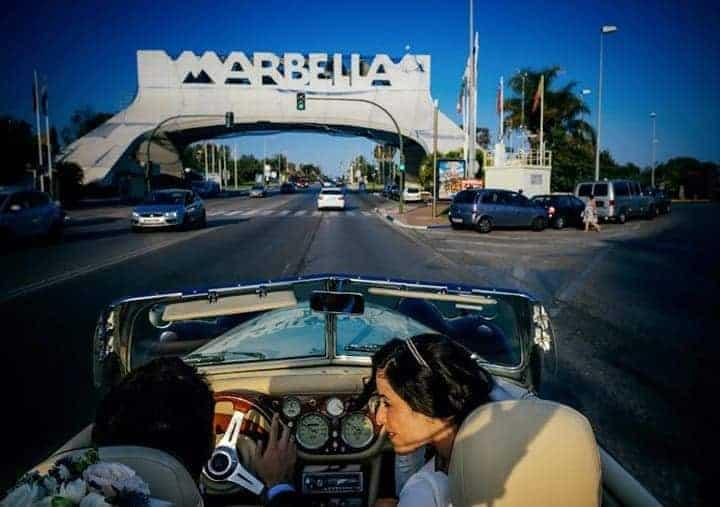 boda marbella coche novios