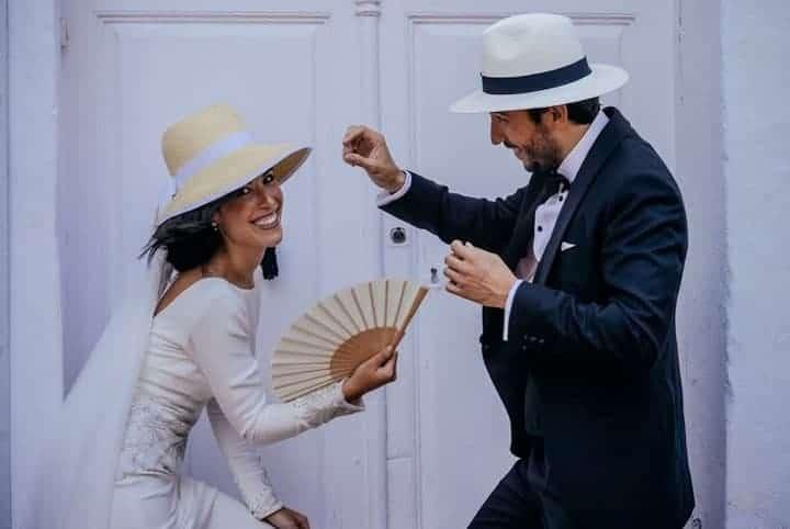 novios sombrero sesion fotos andalucia boda