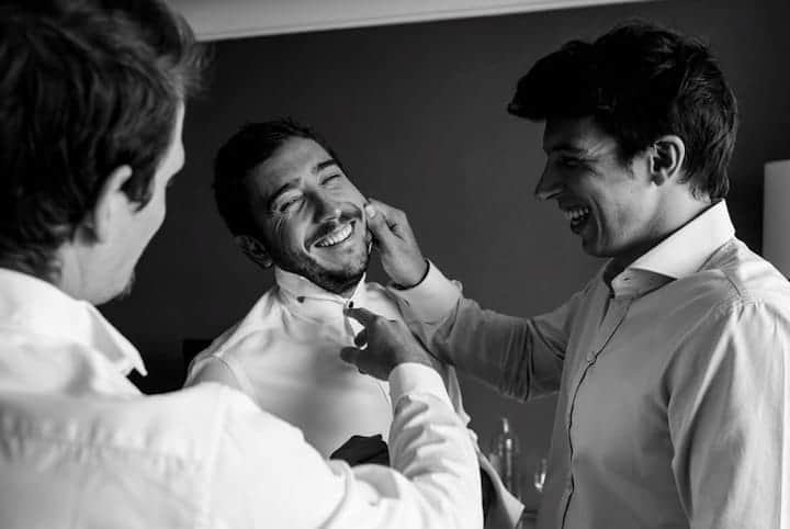 foto blanco y negro novio boda