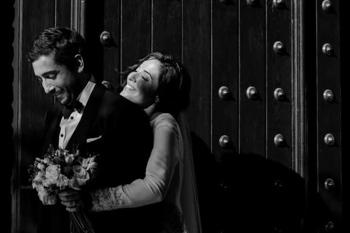 reportaje blanco y negro boda andalucia