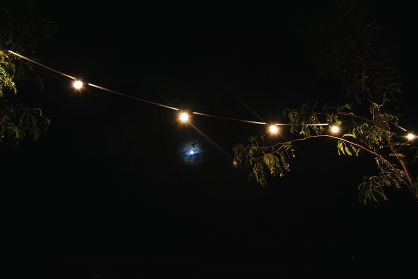 iluminación con bombillas