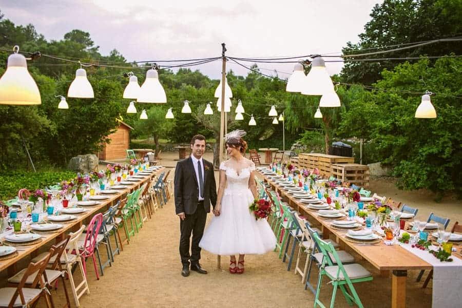 mesas sillas de colores boda