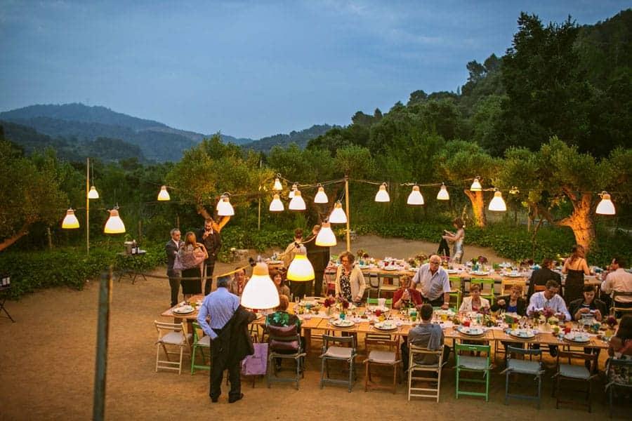 boda mesas corridas