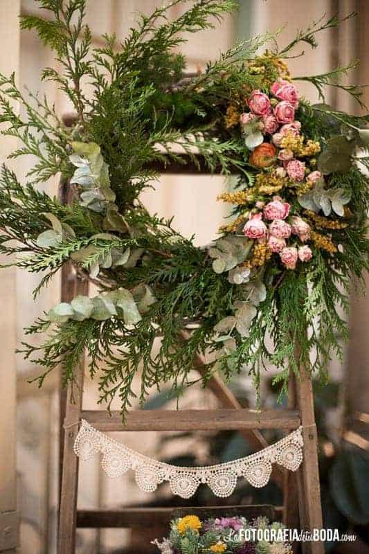 decoración bodas flores en el columpio