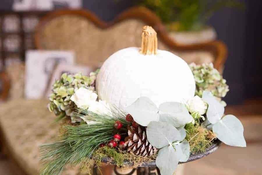calabaza blanca decoración boda