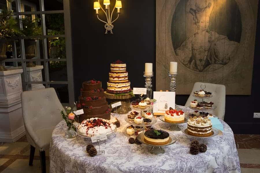 mesa de postres tartas