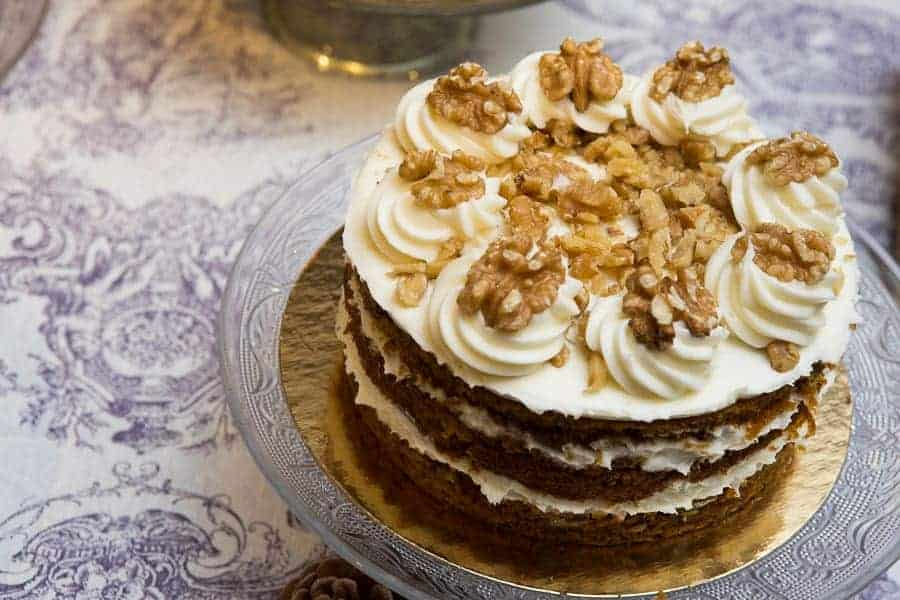 tarta con nueces