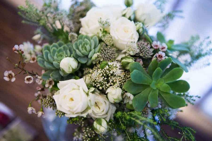 ramo novia blanco