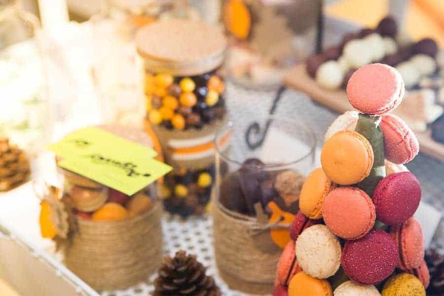 cupcakes y macarons boda