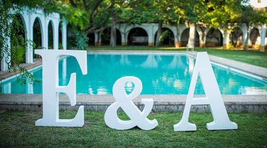 letras grandes boda enlace