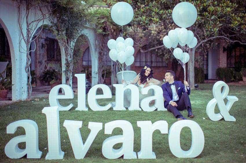 nombres letras novios boda globos