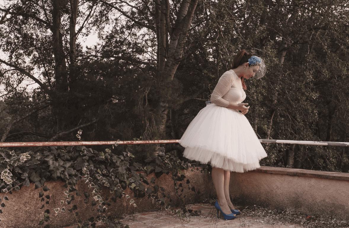 vestido corto novia
