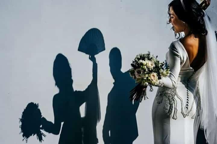 novia sombra novios