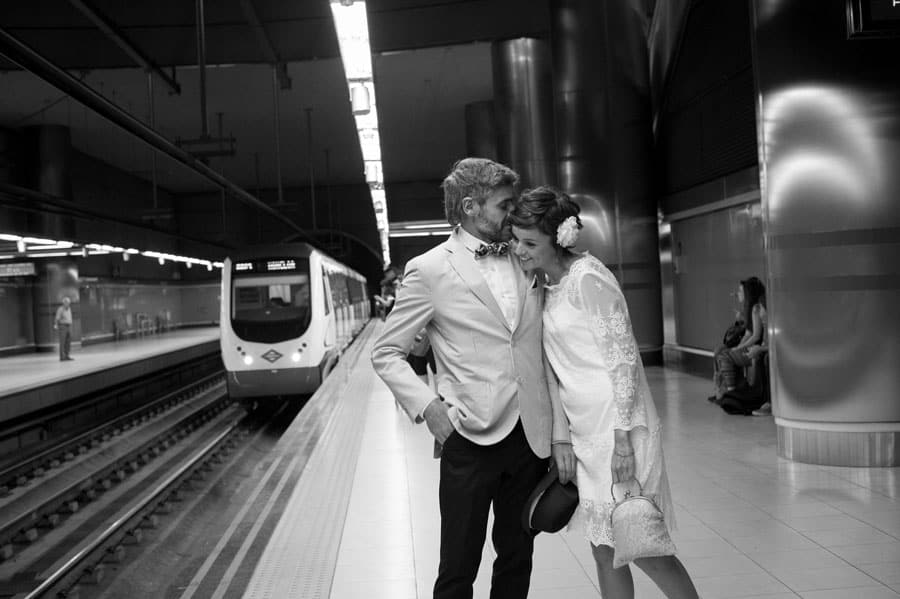 novios metro madrid