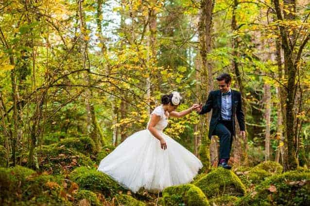novia vestido con volumen foto de Marcos Vega Photolounge
