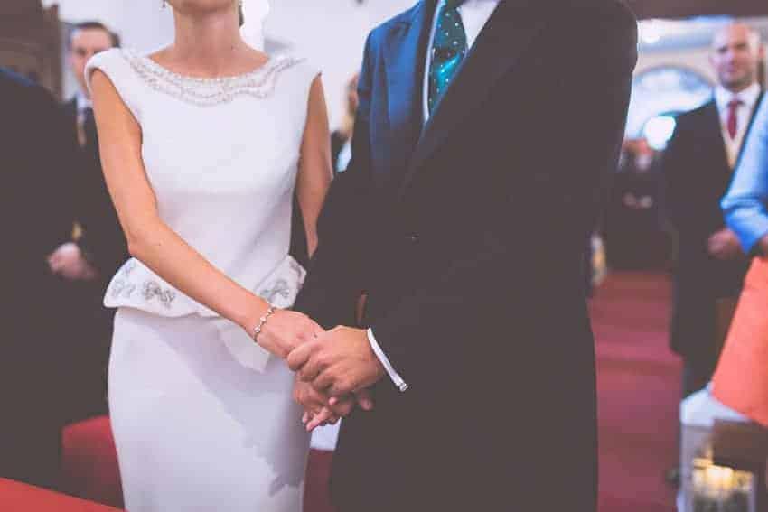 vestido de novia detalle péplum