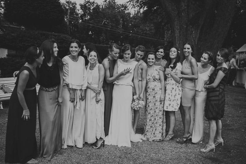 novia y amigas fotografía